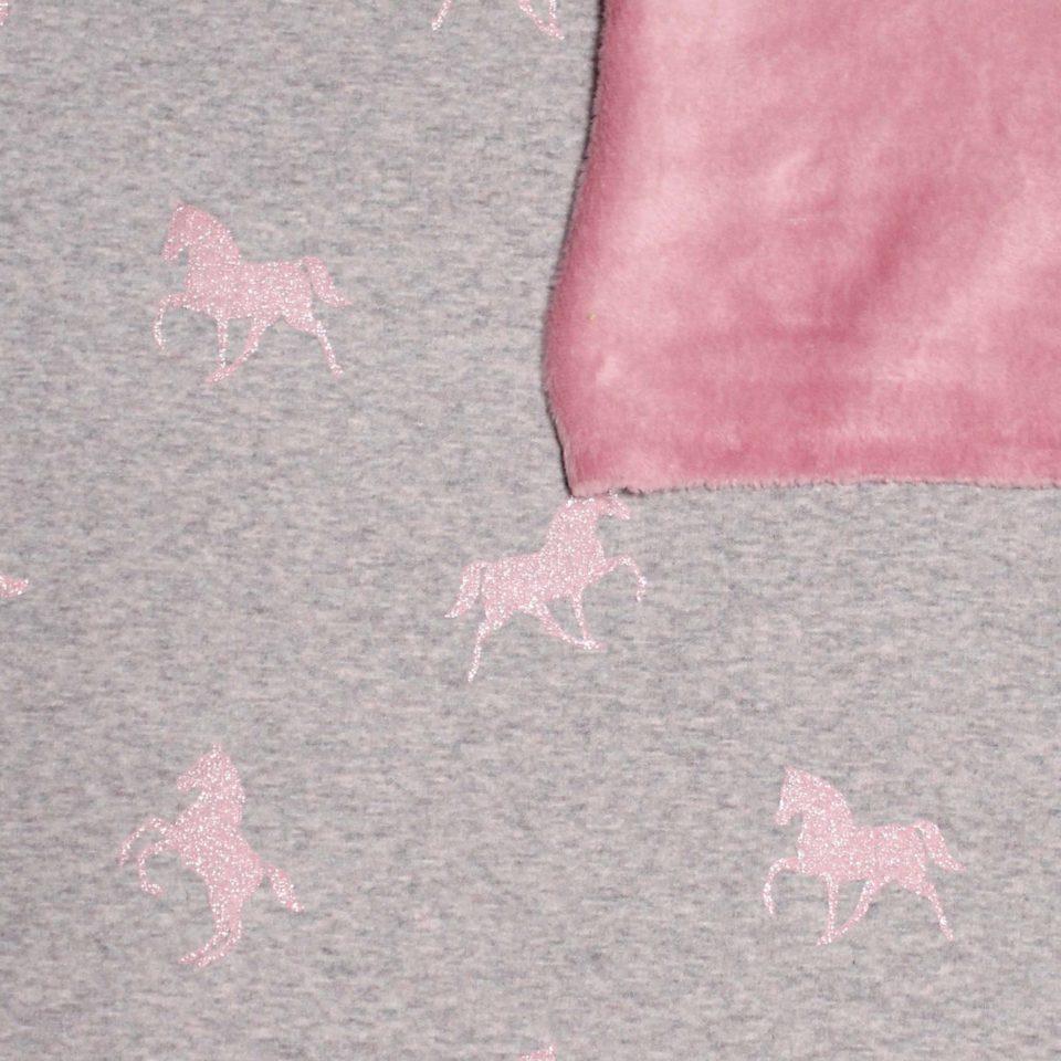Doubleface Glitzerpferde rosa